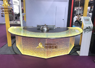 Commercial Induction Semi - Circle Teppanyaki Table Grill With Purification System