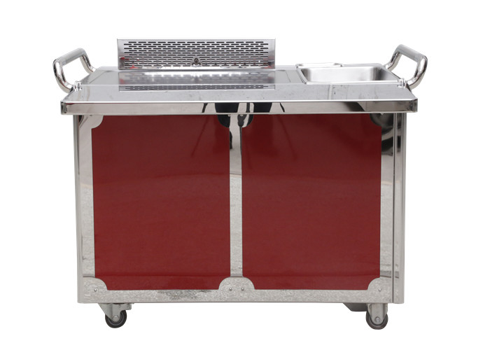 Commercial Teppanyaki Grill Table Electricity / Gas Heating For Outdoor Barbecue