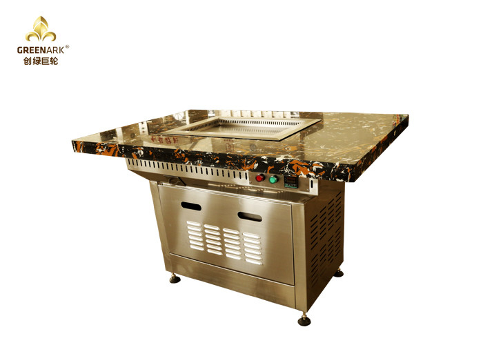 Marble Table Top Small Mobile Commercial Hibachi Grill For Outdoor Kitchen