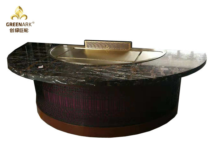 Electric Induction Teppanyaki Grill Air Blower Built-in Japanese Teppanyaki