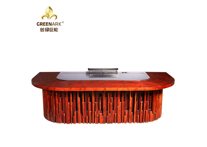 Orient Wood Spirit Teppanyaki Hibachi Grill Table For Restaurant / Outdoor Barbecue